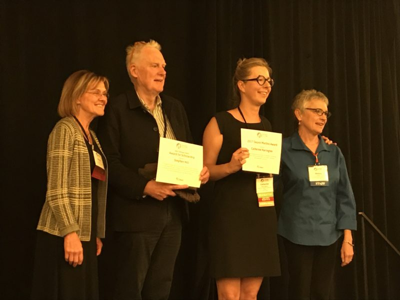 Our Chair, Stephen Hill, and Catherine Harrington from the National CLT Network were honoured at the Grounded Solutions Conference