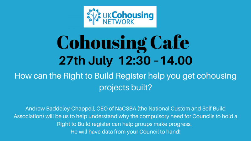Cohousing Cafe 27th July